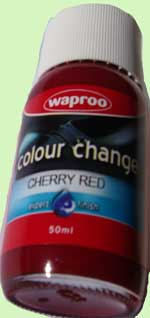Waproo shoe paint cherry red