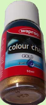 Waproo shoe paint gold