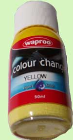 Yellow shoe paint