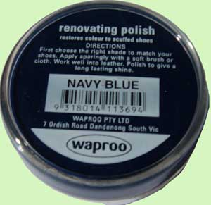 Waproo Navy Blue polish
