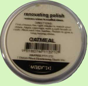 Oatmeal shoe polish