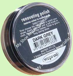 Waproo Dark Grey Shoe Polish