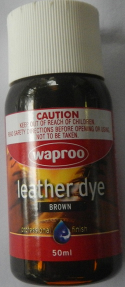 Black. Waproo Leather Dye 50ml Brown Waproo Leather Dye Leather Dye for  handbags 811445d425a64