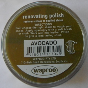 Avocado Shoe Polish Waproo Shoe Polish Waproo Boot Polish Waproo Renovating Polish Waproo Polish
