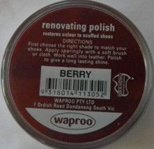Berry Shoe Polish Waproo Shoe Polish Waproo Boot Polish Waproo Renovating Polish Waproo Polish Waproo Shoe Polish Waproo Boot Polish Waproo Renovating Polish Waproo Polish