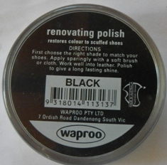 Black Shoe Polish Waproo Shoe Polish Waproo Boot Polish Waproo Renovating Polish Waproo Polish Shoe Cream