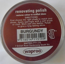 Burgundy Boot Polish Burgundy Shoe Polish