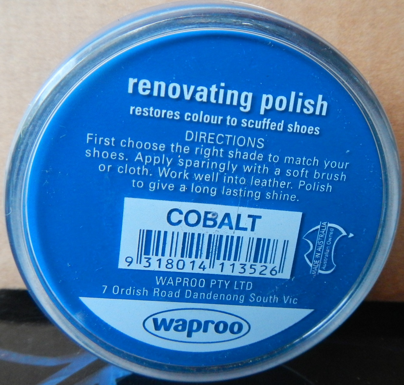 Cobalt Shoe Polish Waproo