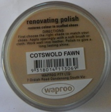 Cotswald Fawn Shoe Polish Cotswald Fawn Boot Polish