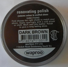Dark Brown Boot Polish Dark Brown Shoe Polish