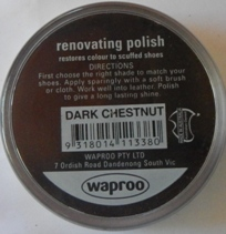 Dark Chestnut Shoe Polish Dark Chestnut Boot Polish