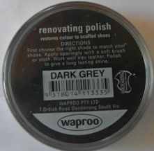 Dark Grey Shoe Polish Dark Grey Boot Polish