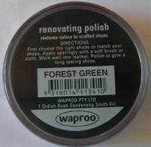 Forrest Green Shoe Polish Forest Green Boot Polish