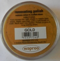 Gold Shoe Polish Gold Boot Polish