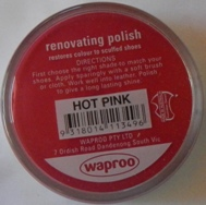 Hot Pink Shoe Polish Hot Pink Boot Polish