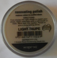 Light Taupe Shoe Polish Light Taupe Boot Polish Hand Bag Polish