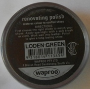 Loden Green Shoe Polish Loden Green Boot Polish