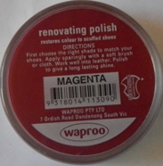 Magenta Shoe Polish Magenta Boot Polish Hand Bag Polish