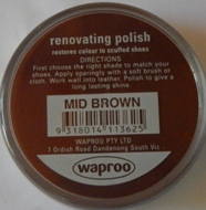 Mid Brown Shoe Polish Mid Brown Boot Polish Hand Bag Polish