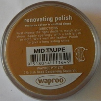 Mid Taupe Shoe Polish Mid Taupe Boot Polish Hand Bag Polish