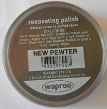 New Pewter Shoe Polish New Pewter Boot Polish Hand Bag Polish