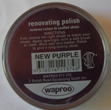 New Purple Shoe Polish New Purple Boot Polish Hand Bag Polish