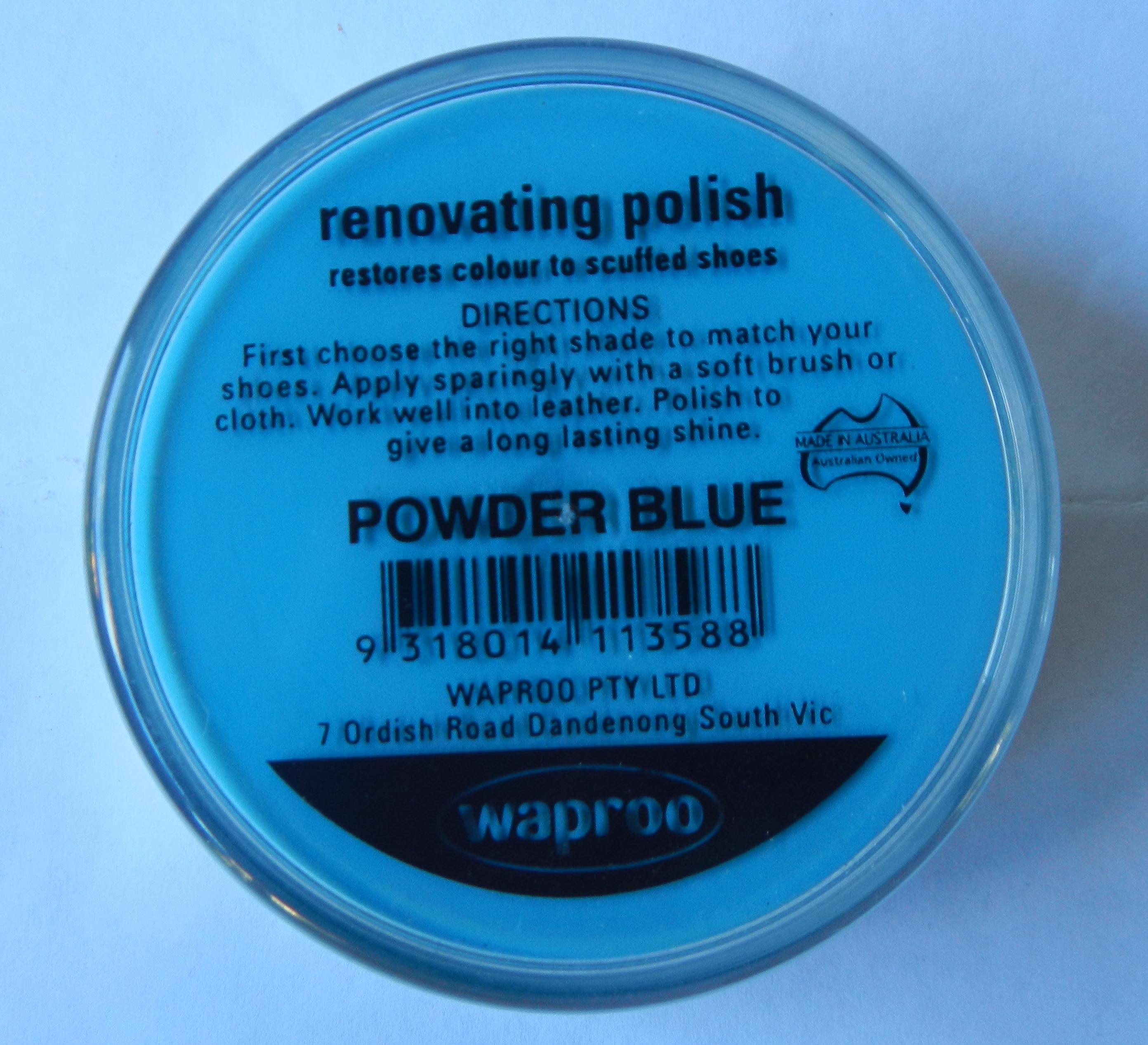 Powder Blue Renovating Polish Waproo