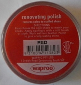 Red Shoe Polish Red Boot Polish Hand Bag Polish