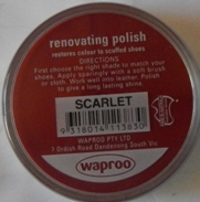 Scarlet Shoe Polish Scarlet Boot Polish