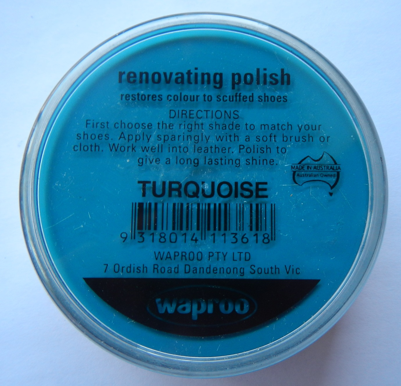 Turquoise renovating polish