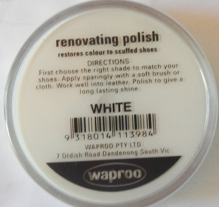 White Shoe Polish White Boot Polish Hand Bag Polish