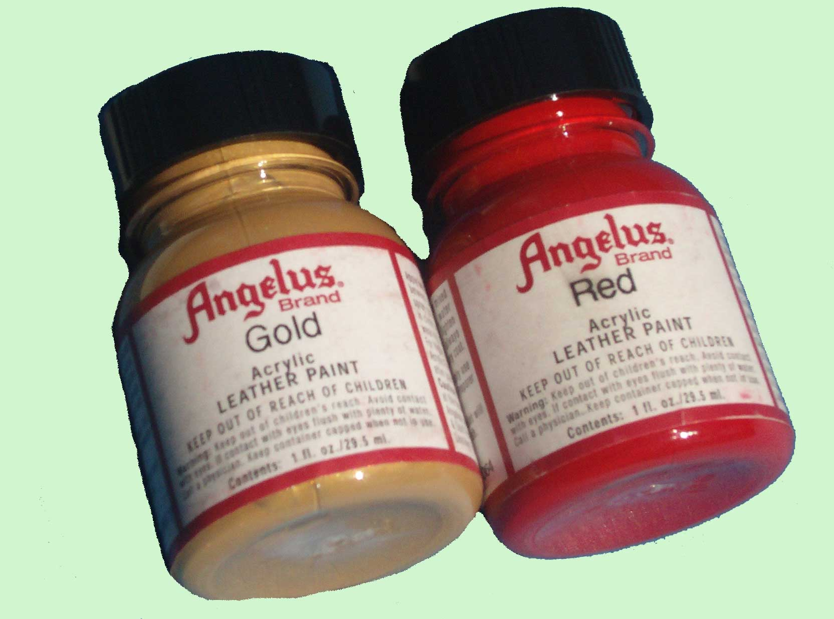 leather paint Angelus leather dye Angelus liner Angelus Duller Angelus Sole Bright Angelus Instant Clean Angelus Blue Foam Angelus Easy Cleaner Angelus Flat top finisher Angelus 2-thin Angelus Acrylic 600 Finisher Angelus deglazer Angelus edge leather finish Angelus Shoe Polish Burgundy Angelus Shoe Polish Black Angelus Shoe Polish Brown, Angelus Shoe Polish Cordovan Angelus Shoe Polish Mahogany Angelus Shoe Polish Neutral Angelus Shoe Polish Tan Angelus Matte Finisher Glow in the Dark Green Angelus 2 Hard Plastic medium